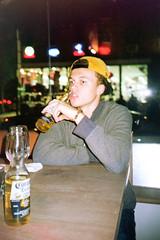Barfly (Sean Gilchrist) Tags: nyc newyork film bar night analog 35mm flash alcohol
