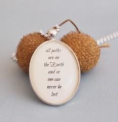 Birthday The Navigator, inspirational quote pendant