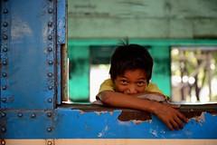 tell yourself it could happen again (JonBauer) Tags: boy kid nikon loop yangon burma rail railway commuter myanmar rangoon d800 2470mmf28g circulartrain endofstrife