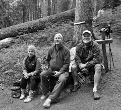 At our first camp...... (McCoy352) Tags: friends camp blackandwhite forest fun us group hike backpacking tired olympicnationalpark lacrossebasin bearbucket