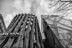 Boss & Tod's Buildings (Tokyo) (I) (manuela.martin) Tags: blackandwhite bw japan architecture tokyo shibuya architektur tods omotesando tokio toyoito contemporaryarchitecture modernearchitektur shibuyaku todsomotesando schwarzundweis norihikodan hugobossflagshipstore todsflagshipstore omotesandoarea