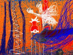 P1010063.III EXKURSION KRAKAU  APS 2013 (APS Lilienthal) Tags: blue orange bird accident drawing churches gimp fantasia bluebird symbolic friedenstaube fevercurve fieberkurve