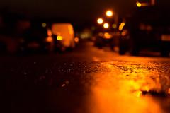 365: 28 - Home Turf (margaretsdad) Tags: road street home wet night 35mm dark lights scotland amber shiny edinburgh rehearsal crescent late turf midlothian scottbarron d3100