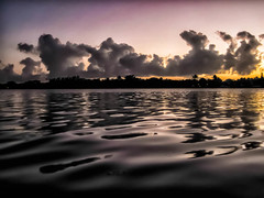 (5/52) Twilight From My Kayak, Key Largo (Louise Lindsay) Tags: sunset reflection water birds clouds dark bay twilight key kayak florida foreboding kl largo 2014 canond10 2114 blinkagain