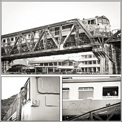 Kanchanaburi. Tailandia (Igorza76) Tags: bridge bw white black blanco ro train river de thailand tren puente death