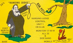 Hanging Judge - Fort Worth, Texas (The Cardboard America Archives) Tags: vintage texas postcard judge hanging qsl cb fortworth cbradio citizensband qslcard