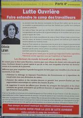 Olivia Lewi (emmanuelsaussieraffiches) Tags: poster political politique affiche lutteouvrire