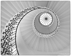 The Tulip Stairs, Greenwich, London (manxmaid2000) Tags: london greenwich staircase mono bw uk spiral history heritage light royal escalier stairs monochrome curve caracol elegant england round