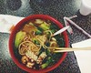 134/365 (moke076) Tags: atlanta food oneaday mobile court georgia lunch soup chinatown hand chinese cellphone cell shrimp bowl made lan squid photoaday chopsticks bok choy noodles seafood zhou noodle 365 iphone pulled 2014 project365 365project vsco vscocam