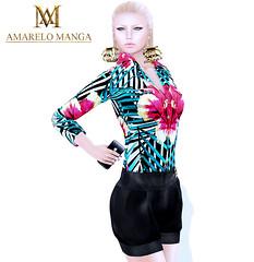 [AMARELO MANGA] - Fashion Limited - 150 L$ (Luana Barzane / CEO [AMARELO MANGA]) Tags: woman flower fashion set mesh alice manga 150 collection amarelo l limited