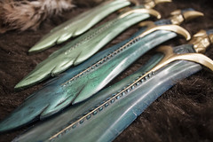By Ysmir's Beard! (Tsabo Tsaboc) Tags: glass fur real homemade fantasy weapon impact sword dagger props skyrim