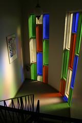 3140-3150 W. 99th Street (repowers) Tags: window glass apartment plastic condo balconies colored deco streamline midcentury