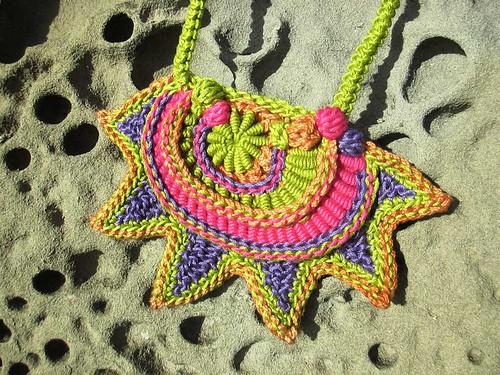 Prudence Mapstone freeform crochet necklace