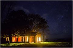 Casa de campo (Analia Cid) Tags: longexposure argentina stars landscape countryside buenosaires estrellas campo ranchos fotografianocturna