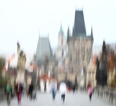She just doesn't get it (Fading Truth) Tags: prague charlesbridge paintingwithcamera fadingtruth