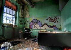 Class Dismissed (Blinkofanaye) Tags: school urban abandoned nude graffiti washingtondc chalk office education classroom desk decay exploration blackboard marvin randall gaye corcoran urbex millenniumartscenter