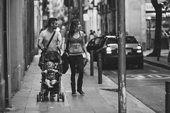 family (SbAIrNa) Tags: barcelona street bw spain child father mother streetphotography