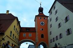 City Gate [Regensburg - 8 December 2014] (Doc. Ing.) Tags: orange clock germany bayern bavaria arches clocktower unesco regensburg oberpfalz 2014 upperpalatinate