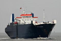 City of Hamburg (Bernhard Fuchs) Tags: water boat nikon ship ships cargoships vessel cargo elbe schiffe roro cuxhaven frachtschiff autotransporter frachtschiffe roroschiff