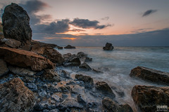 Okuma Sunset (Northwest Beach) (davidgevert) Tags: sunset beach water japan landscape coast okinawa ultrawide d800 rockycoast nikon1424mmf28 nikond800 davidgevert gevertphotography