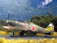 "1:72 Kawasaki Ki-78 Kai-Otsu (US Code ""Mandy""); aircraft ""4"" of 52nd Sentai, 3rd Chutai; Sarabia Airfield, Negros Island, Philippines; September 1944 (Whif/AZ Model kit conversion) (dizzyfugu) Tags: mandy 3 japan aluminum force conversion pacific aviation air wwii models ken olive fast az fantasy record kit through shining 3rd kawasaki bf109 52 drab hinomaru 52nd 1946 fictional ija whatif modellbau hikoki sentai whif db601 dizzyfugu chutai ki78"