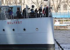 Camera crews on HMS Belfast (as098_uk) Tags: camera england london unitedkingdom hmsbelfast crew riverthames