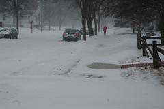 Snow storm in Sheboygan Wisconsin