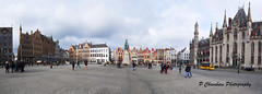 Panorama Place Markt Bruges (Pierre CHAMBION Photography) Tags: panorama canon belgium belgique belguim bruges digitalphoto 1022mm nationalgeographic placemarkt pierrechambionphotography