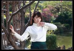 nEO_IMG_DP1U0817 (c0466art) Tags: show park light portrait flower tree girl beautiful face female creek canon eyes asia pretty cheery outdoor gorgeous taiwan mini skirt double lips attractive taipei charming 1dx c0466art