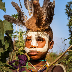 surma.body art. Omo valley. Ethiopia (courregesg) Tags: africa travel portrait people woman colors girl beauty painting femme traditional culture tribal omovalley tradition ethiopia tribe ethnic bodyart fille surma civilisation gens younggirl ethnology tribu omo eastafrica ethnologie ethnie ethnographie southethiopia