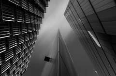 Things Are Looking Up (TS446Photo) Tags: city windows bw white black brick london monochrome lines architecture buildings wow point mono big amazing cool nikon flickr day cityscape shapes more 20mm d800