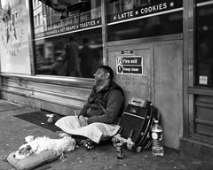 Hard Times III (bensonfive) Tags: people dog london monochrome 35mm canon streetphotography human 5d blackwhitephotography hardtimes streetsoflondon