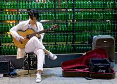 Street Guitarist of Itaewon (Mondmann) Tags: street musician man asian asia guitar streetphotography korea entertainment korean seoul entertainer busker southkorea guitarist rok guitarplayer itaewon streetmusician eastasia republicofkorea mondmann canong7x