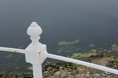 White (Future-Echoes) Tags: white portland coast rust dof bokeh depthoffield dorset railing portlandbill 2016