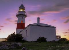 Low Head Lighthouse (Kent Wilkins) Tags: lighthouse sunrise river landscape bass australia georgetown tasmania straight tamar lowhead tasmania2016