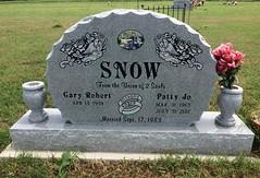 Snow Headstone (eloisedv) Tags: oklahoma cemetery headstone gravemarker cartercounty lonegrove