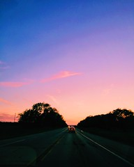 (Meg4nnn) Tags: road trip travel sunset sun nature beautiful landscape drive spring twilight scenery driving may roadtrip adventure explore journey traveling carride iphonephoto vsco