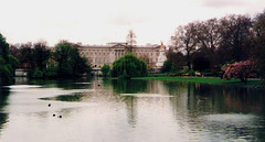 London.  April 21st. 1998 (Cynthia of Harborough) Tags: trees water birds architecture lakes parks ducks views 1998 palaces