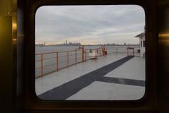 Staten Island Ferry (GPhace) Tags: nyc newyorkcity sunset skyline skyscraper canon evening spring cityscape cloudy wtc statenislandferry newyorkharbor freedomtower portofnewyorknewjersey 5dmiii