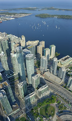 Lake Ontario from the CN Tower (GloriaOcch) Tags: lake toronto canada water cntower view lakeontario
