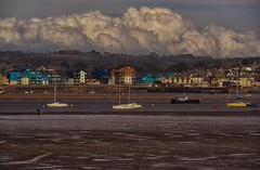 Shot From a Moving Train (bjg_snaps) Tags: landscape cloud clouds cloudy storm brewing sea seaside village town tidal flats uk england countryside boat rollinghills