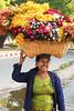 Cheerful flower seller, Bagan (malithewildcat) Tags: market burma myanmar bagan flowerseller