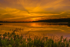 Reflections of a Golden Sky (eahackne) Tags: sunset reflections marsh upperpeninsula keweenawpeninsula bostonpond
