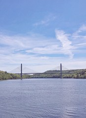 (amy higgins) Tags: bridge water clouds maine observatory narrows penobscot iphone