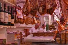 meats (James Ian L.A.) Tags: barcelona lumix spain meat panasonic jamon lx100 barcelonaspainlumixlx100panasonicbutcher