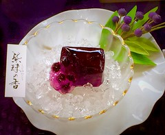 Wagashi (sapphire_rouge) Tags: food girl cake japan cherry japanese foods cherryblossom
