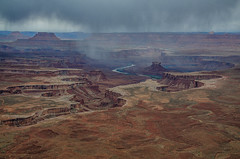 Spring Storm Green River Overlook (RichGreenePhotography.com) Tags: sky storm rain clouds utah sandstone desert canyon canyonlandsnationalpark greenriver sleet coloradoplateau islandinthesky redrockcountry whiterimroad greenriveroverlook