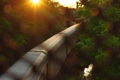 on the bridge (tottyna) Tags: bridge light sunset train river ct willimantic