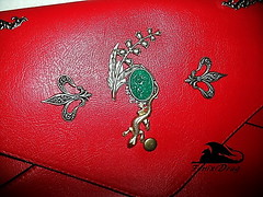 """Bag red leather """"Japanese lizard"""" for the tablet, netbook Vintage style steampunk, Gothic, Victorian, fantasy filigree accessorie (fenixdrag) Tags: handmade gothic victorian accessories steampunk handmadebag gothicstyle vintageaccessories whitebag leatherbag handmadeaccessories gothaccessories darkbag steampunkaccessories victorianaccessories victorianbag steampunkbag gothicbag vintagebagleather whiteleatherwomenbag"""