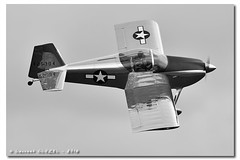 CAF French Wing - Fly'In 2016 (Laurent CLUZEL) Tags: bw classic airplane french nikon force air wwii north wing nb chipmunk american vans 28 beechcraft 70200 caf warbird commemorative t6 snj rv6 d610 staggerwing dhc1 vrii wintage lfpp